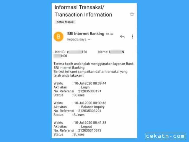 Cara Mengetahui User ID BRI Lewat Email