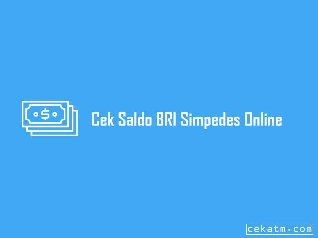 Cek Saldo BRI Simpedes Online