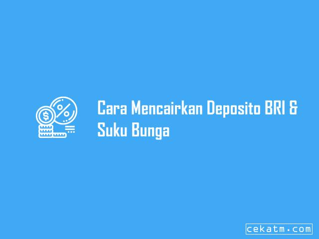 Cara Mencairkan Deposito BRI