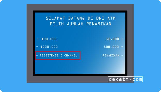 Cara Registrasi  SMS Banking BNI Lewat ATM