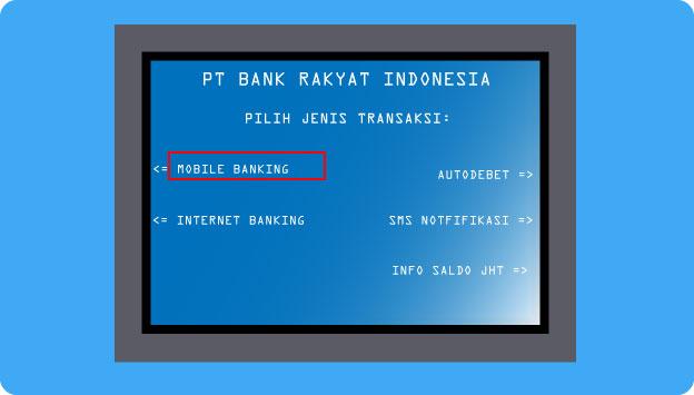 Cara daftar Bri Mobile Banking via ATM Bri