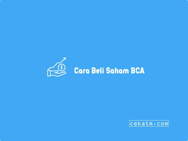 Cara Beli Saham BCA