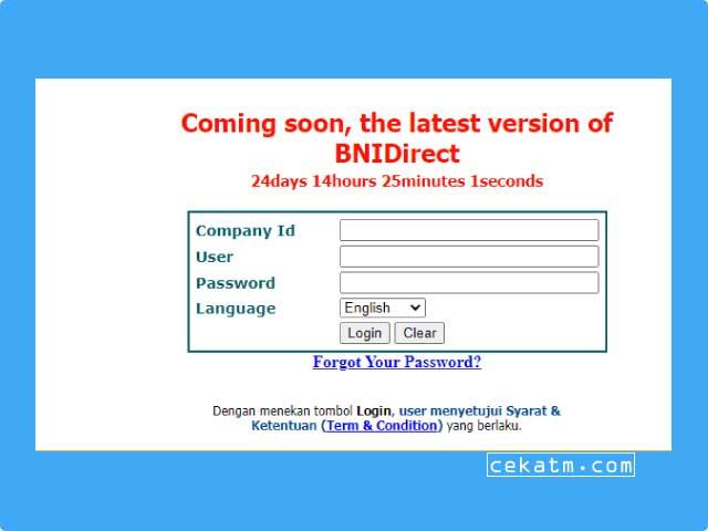 Cara Menggunakan BNI Direct