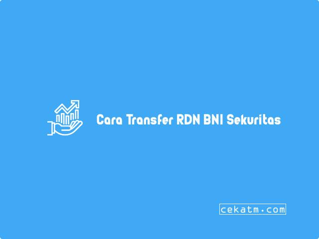 Cara Transfer RDN BNI Sekuritas