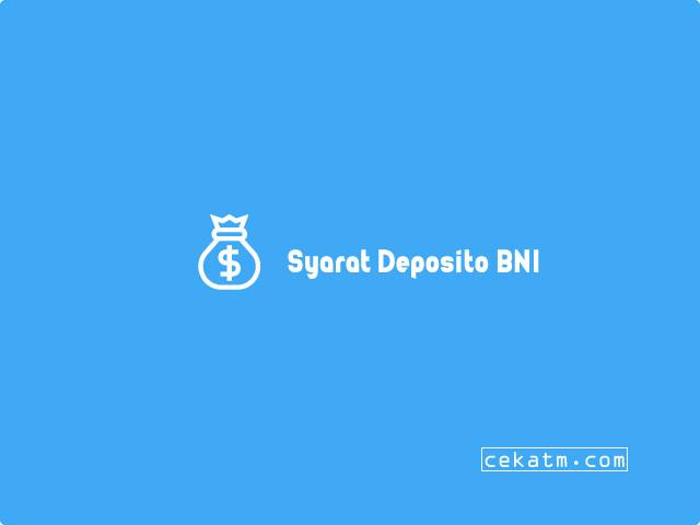 Saldo Minimal Deposito BNI