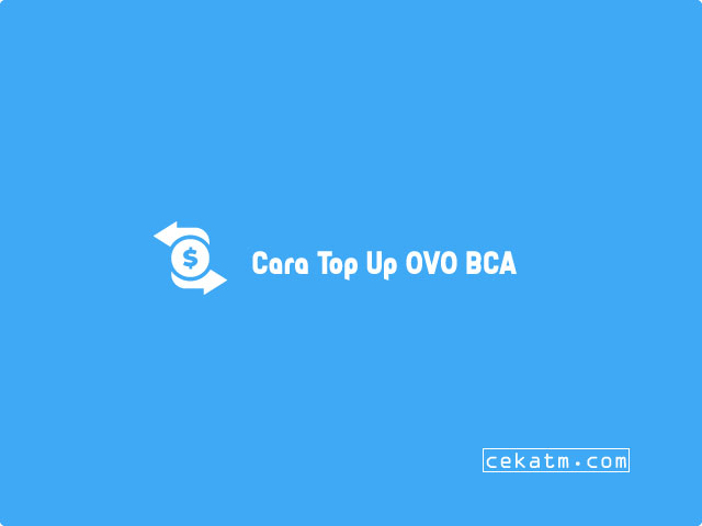 cara top up ovo bca