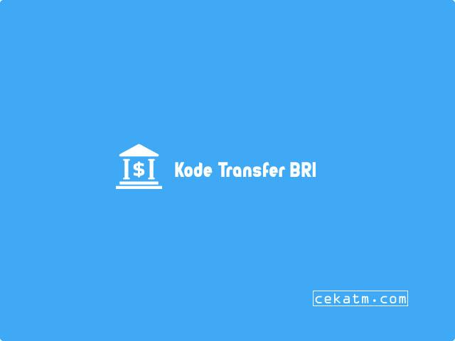 kode transfer bri